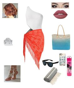 """Untitled #97"" by jordanleigh94 on Polyvore featuring Victoria's Secret PINK, Araks, Chesca, Sun N' Sand, Casetify, Palm Beach Jewelry, Retrò and Lime Crime"
