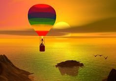 balloon and the sunset