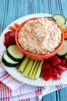 Dairy-free veggie dip is packed with vegetables and easy to make!
