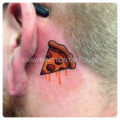 pizza tattoo traditional by shawn patton