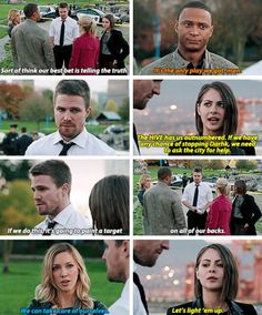 I love how they decided this as a team. Truly Team Arrow for probably the first time. #Arrow #Season4 #4x09