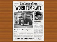 Old Newspaper Front Page Template By Newspaper Templates On