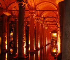 The Basilica-cistern, located on the underground of the ancient Constantinople... To built the cisterns, many ancient Greek temples have been distroyed in order to use their pillars. #basilicacistern #basilica #istanbul