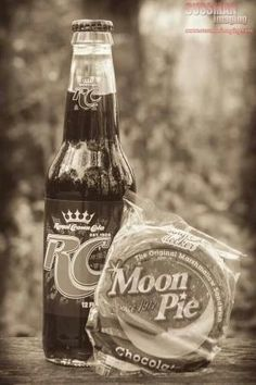 RC Cola and. Moon Pie My sis and I would get this at the corner store in Loyall...when we visited our Grandma!