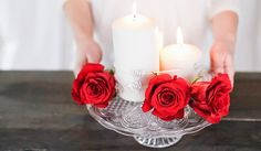 San Valentino - video tutorial per Blanc Mariclò Easy Home Decor, Valentine's Day Diy, Pillar Candles, Diy Tutorial, Valentines Day, Valentino, Simple, Projects, Blog