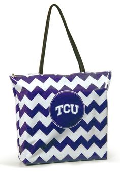 TCU Horned Frogs Purple and White Shopper Tote http://www.rallyhouse.com/shop/tcu-horned-frogs-tcu-horned-frogs-purple-and-white-shopper-tote-2076083 $36.99