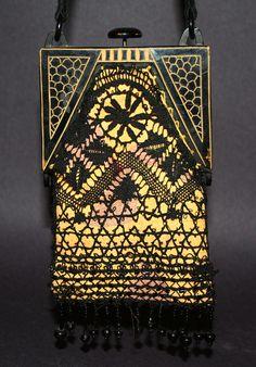 Geometric celluloid purse