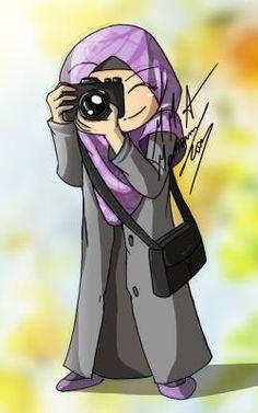 Click the image to open in full size. Cartoon Girl Images, Girl Cartoon, Cute Cartoon, Cartoon Art, Hijab Drawing, Islamic Cartoon, Hijab Cartoon, Islamic Girl, Islamic Art Calligraphy