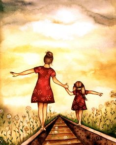 Mother and daughter our path, Claudia Tremblay Claudia Tremblay, Sunset Art, Choose Joy, Make Me Smile, Decir No, Me Quotes, Family Quotes, To My Daughter, Daughters