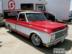 White/Red Chevy C10 Truck
