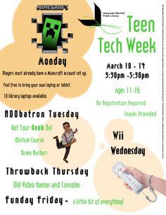 Teen Tech Week is back March 10-14!