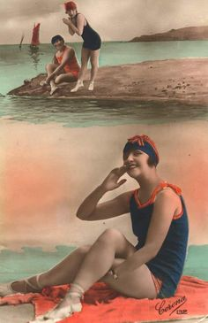 Bathing Beauties postcard from the 1920s