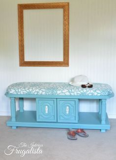 70's Coffee Table To Upholstered Bench   The Interior Frugalista