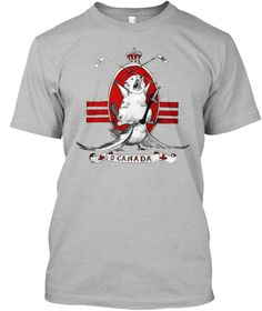 O Canada Sport Grey T-Shirt Front