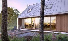 DOM.PL™ - Projekt domu DZW Odważny 2 CE - DOM DW1-90 - gotowy koszt budowy Breezeway, Good House, Barndominium, Modern House Design, Bungalow, Building A House, Gazebo, New Homes, Cottage