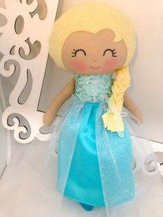 Elsa Plush Doll Soft Frozen Elsa Doll Cloth by SewManyPretties, $50.00 #frozen #elsa #frozenparty