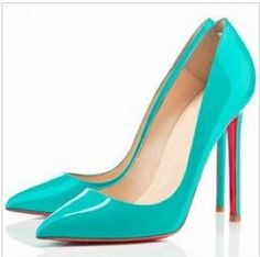 2013Plus Size Fashion Sexy Pointed Toe Red Bottom Women's Pumps Neon Yellow Blue White Fushia Nude Thin Heels Party Bridal Shoes-in Pumps from Shoes on Aliexpress.com
