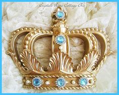 Gold Fleur de Lis Bed Crown Canopy Your by sweetlilboutique