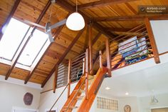 nice loft design - is that copper pipe for the railing?
