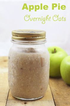 Make these Apple Pie Overnight Oats at the beginning of the week and eat them for the next couple of days! It's a protein-filled healthy breakfast recipe that tastes amazing - cold or hot.