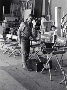 Harrison Ford on the set of Indiana Jones and the Temple of Doom