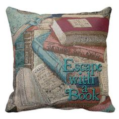 Escape With A Book Decorative Throw Pillow
