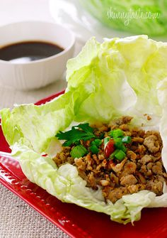 These Asian Chicken Lettuce Wraps looks so good!!! |skinnytaste.com