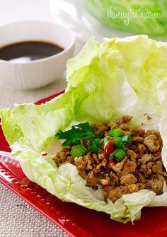 These Asian Chicken Lettuce Wraps looks so good!!! |skinnytaste.com