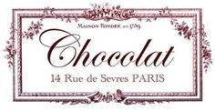 Transfer Printable - Chocolat Paris - The Graphics Fairy