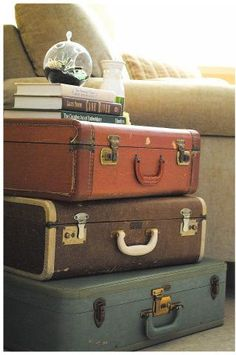 ideas for Old Suitcase Vintage Luggage | Repurposed Suitcase Nightstand Ideas | Poetic Home