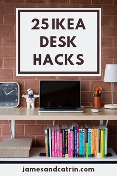 You deserve a great desk for your home office and these Ikea desk hacks can help you achieve it simply and cheaply. There are some really stylish Ikea desk hacks that you're sure to find inspiration from. #ikeadeskhacks #ikeahack