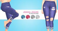Hello ;) • Jenna(Distressed Cuffed Jeans). • New mesh. • BGC. • Download. Enjoy!!!