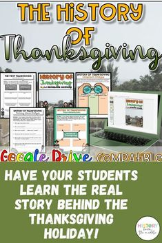 This is a GREAT resource to use around Thanksgiving. This resource takes students through the REAL story of Thanksgiving. They will read about the Plymouth settlers and the Wamponoag and how the holiday of Thanksgiving that we celebrate today originated. Real History Of Thanksgiving, Thanksgiving Stories, Thanksgiving Decorations, Social Studies Resources, Teacher Resources, School Resources, Grades, History Teachers, Back To School