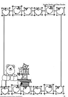 15 BORDAS OU PLAQUINHAS DE URSOS URSINHOS LINDAS PARA IMPRIMIR - ESPAÇO EDUCAR DESENHOS PINTAR COLORIR IMPRIMIR Borders For Paper, Borders And Frames, Kindergarten Portfolio, Robot Theme, Cute Borders, Preschool Writing, Note Paper, Writing Paper, Border Design