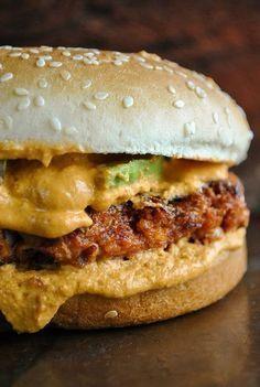 The best spicy vegan Tex-Mex burger (with a gluten-free cutlet)