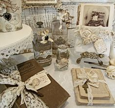 taking the old and making it beautiful..... paper, lace and much more.