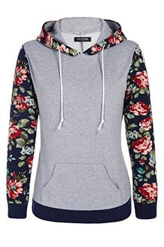 006b2a24516 ACEVOG Sweatshirt Women Hot Selling Floral Printed Casual Hooded Pullover  Hoodies Autumn Winter Flannel Tracksuit Coat Plus Size
