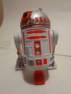"Disney /star wars ""star tours"" droid factory astro mech ( R2-D2) orange #Disney"