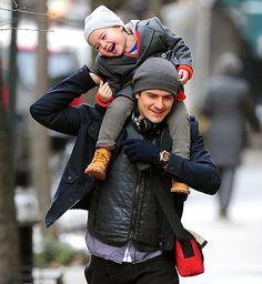 We're melting! Orlando Bloom and Miranda Kerr's son keeps getting cuter.