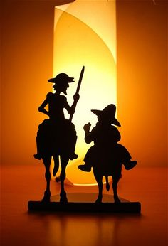 DON QUIXOTE and his sidekick in the adventure of life.