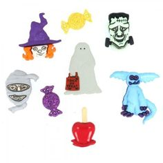 Ghostly Fun Buttons Embellishments