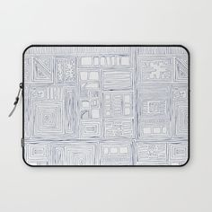 Abstract lines_ Blue Laptop Sleeve
