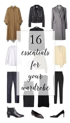 16 Essentials for Your Wardrobe #minimal #classic #capsulewardrobe