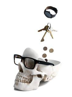 """""""Tidy Skull"""" Organizer (White)"""