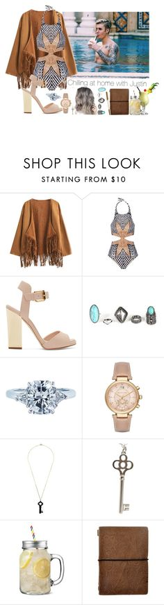 """Day at home In L.A with my Fiancé Justin"" by ghizlanewilde ❤ liked on Polyvore featuring Chicnova Fashion, Mara Hoffman, Giuseppe Zanotti, Tiffany & Co., Michael Kors and Kristin Hanson"