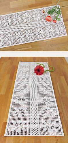 Crochet Bookmark Pattern, Free Crochet Doily Patterns, Filet Crochet Charts, Crochet Bookmarks, Crochet Designs, Crochet Doilies, Crochet Stitches, Sewing Designs, Crochet Table Mat