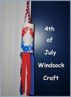 4th of July handprint windsock craft