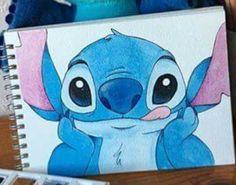 Pencil Art Drawings, Cartoon Drawings, Easy Drawings, Animal Drawings, Drawing Sketches, Stitch Disney, Lilo And Stitch, Cute Disney Drawings, Disney Sketches
