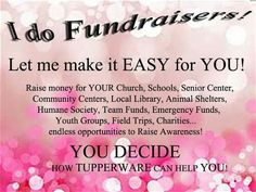 Gal's & Guy's  you know Tupperware do Fundraisers. Message me cristihendrickson@yahoo.com  if interested and we can make that happen....