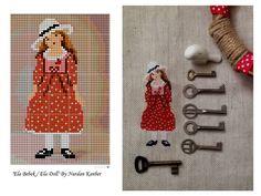 Ela Bebek / Doll - Designed and stitched by Nurdan Kanber